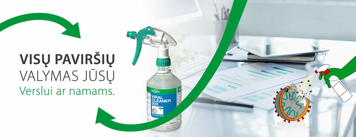 Viral Cleaner alternatyva dezinfekciniam skysčiui