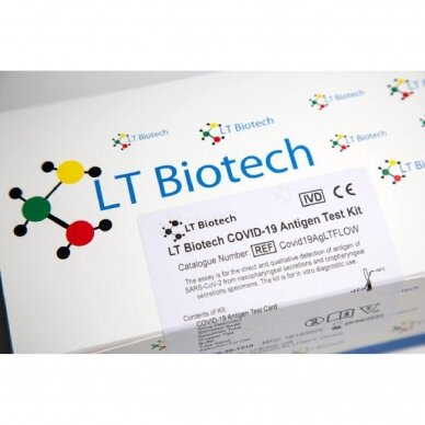 Greitasis COVID-19 antigeno testas LT Biotech® COVID-19 LTFLOW, 25 vnt. 2